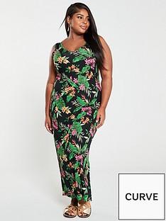 v-by-very-curve-split-jersey-maxi-dress-tropical-print