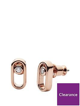 skagen-skagen-elin-rose-gold-and-cubic-zirconia-ladies-stud-earrings