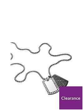 diesel-diesel-black-jet-hematite-and-stainless-steel-double-dogtag-mens-neckwear