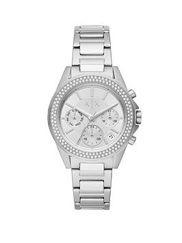 Armani Exchange Armani Exchange Armani Exchange Drexler Silver And Crystal  ... Picture