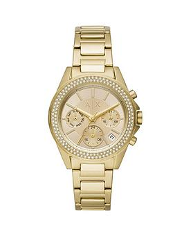 Armani Exchange Armani Exchange Armani Exchange Drexler Gold And Crystal  ... Picture