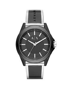 armani-exchange-armani-exchange-drexler-black-and-silver-dial-black-and-clear-pu-strap-mens-watch