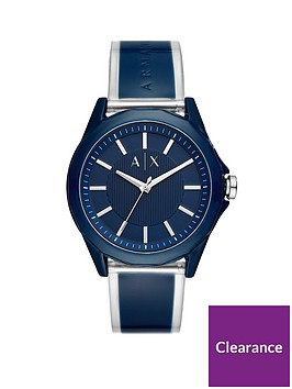 armani-exchange-armani-exchange-drexler-blue-and-silver-dial-blue-and-clear-pu-strap-mens-watch