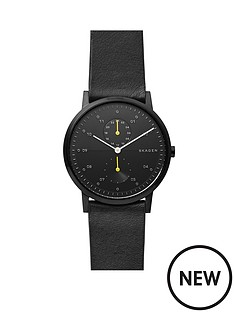 skagen-skagen-black-and-yellow-detail-dial-black-leather-strap-mens-watch