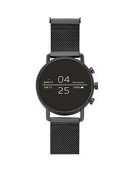skagen-skagen-falster-2-full-display-dial-black-stainless-steel-mesh-strap-smart-watch