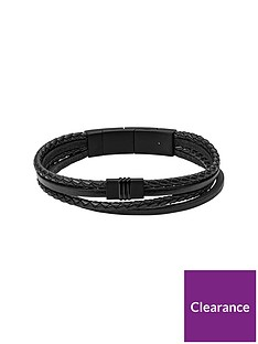 fossil-fossil-black-leather-and-stainless-steel-magnet-clasp-mens-bracelet