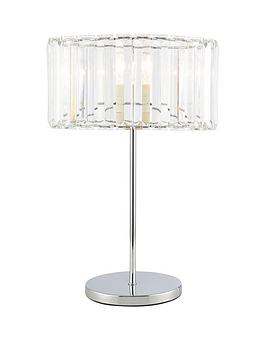 Very  Chisel Dropper Oval Table Lamp - Chrome