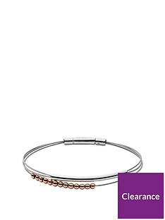 skagen-skagen-elin-rose-gold-beads-and-silver-double-thread-ladies-bracelet