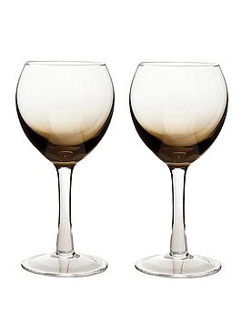 Denby  Halo/Praline White Wine Glasses - Set Of 2