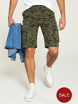 v-by-very-printed-cargo-short-khaki