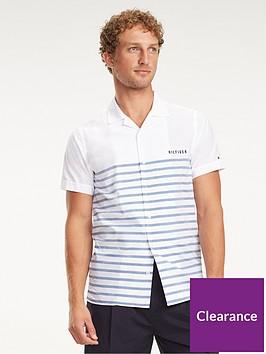 tommy-hilfiger-breton-short-sleeved-shirt-white