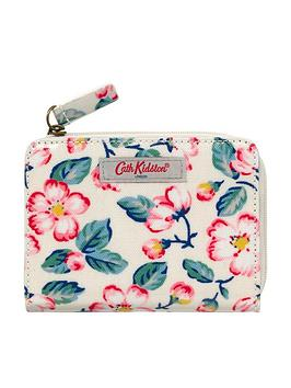 cath-kidston-climbing-blossom-slim-folded-purse-with-coin-slot-cream