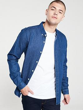 v-by-very-long-sleeved-button-down-denim-shirt