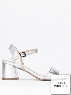 evans-evans-extra-wide-fit-honey-2-part-flared-heel-sandal