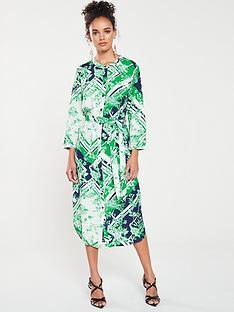 4de5d78fe02 Warehouse Scarf Print Midi Shirt Dress
