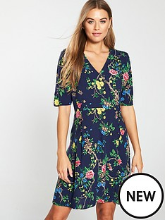 warehouse-verity-floral-wrap-dress-navy