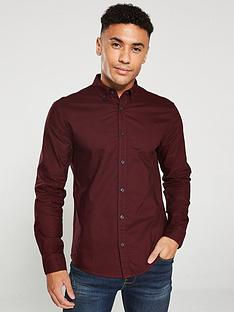 v-by-very-long-sleeved-button-down-oxford-shirt-burgundy