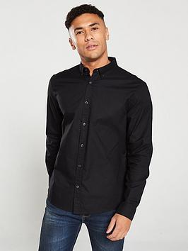 V by Very V By Very Oxford Shirt - Black Picture