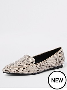 river-island-pointed-loafer-snake