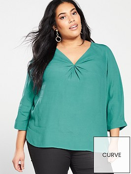 monsoon-curve-salvina-twist-front-blouse-green
