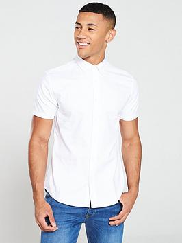 V by Very V By Very Short Sleeved Oxford Shirt - White Picture