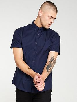 V by Very V By Very Oxford Shirt - Navy Blue Picture