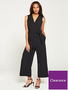 mango-v-neck-tie-waist-jumpsuit-black