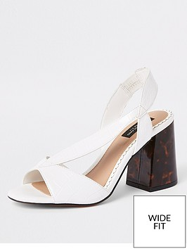 river-island-river-island-wide-fit-contrast-heel-sandals-white
