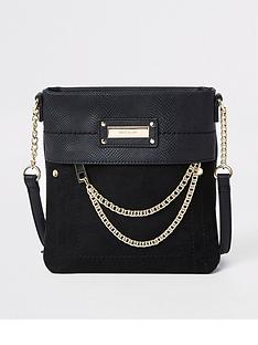 river-island-river-island-mini-chain-front-cross-body-messenger-bag-black