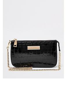 river-island-river-island-chain-strap-mini-underarm-bag-black