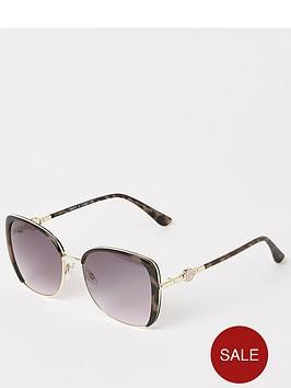 river-island-river-island-enamel-branded-sunglasses-brown