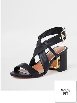 river-island-river-island-wide-fit-soft-strap-block-heel-sandal-black