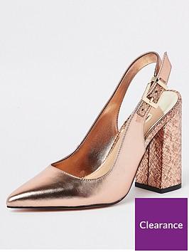 river-island-river-island-block-heel-slingback-court-shoe-rose-gold