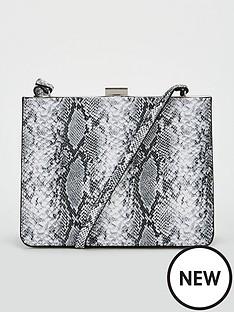 v-by-very-paloma-frame-boxy-cross-body-bag-grey-snake-print