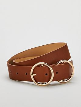 V by Very V By Very Orla Double Circle Detail Belt - Tan Picture