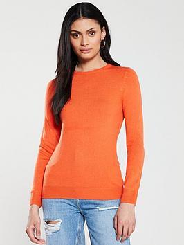 v-by-very-supersoft-crew-neck-jumper-orange