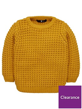 v-by-very-boys-waffle-knit-jumper-ochre