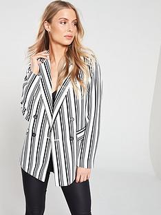wallis-stripe-double-breasted-blazer-mono