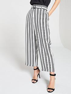 wallis-mono-stripe-high-wide-leg-trousers-blackwhite