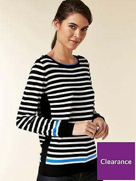 wallis-wallis-petite-contrast-flash-stripe-jumper