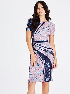 little-mistress-mixed-print-bodycon-dress