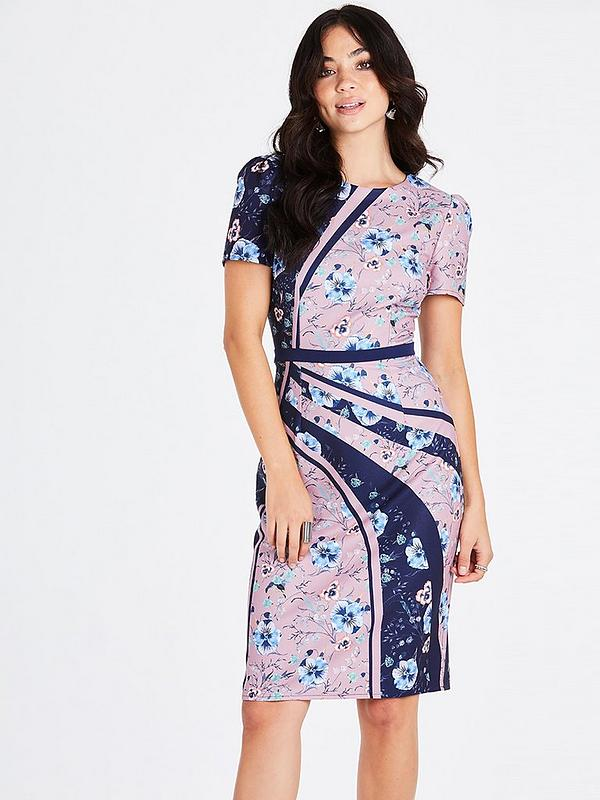 in stock latest design limited guantity Mixed Print Bodycon Dress
