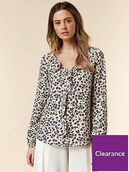 wallis-petite-animal-ruffle-top