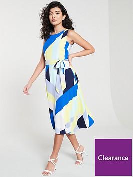 wallis-colour-block-hanky-hem-dress