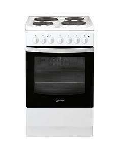 indesit-is5e4khw-50cm-electric-solid-plate-single-oven-cooker-white