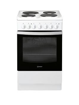 Indesit Indesit Is5E4Khw 50Cm Electric Solid Plate Single Oven Cooker -  ... Picture