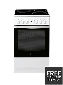 indesit-is5v4khw-50cm-electric-single-oven-cooker-white