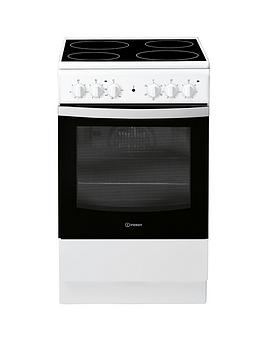 Indesit Indesit Is5V4Khw 50Cm Electric Single Oven Cooker - White Picture