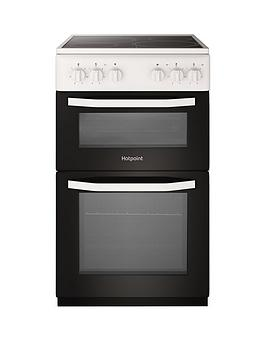 Hotpoint Hotpoint Hd5V92Kcw 50Cm Wide Electric Twin Cavity Single Oven  ... Picture