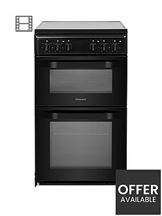 hotpoint-hd5v92kcb-50cmnbspwide-electric-twin-cavity-single-oven-cooker-black